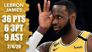 LeBron passes Kobe in 3-pointers, sinking 5 straight in Spurs vs. Lakers | 2019-20 NBA Highlights