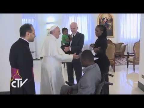 Papa Francesco e Meriam Yahia Ibrahim Ishag 24-07-2014