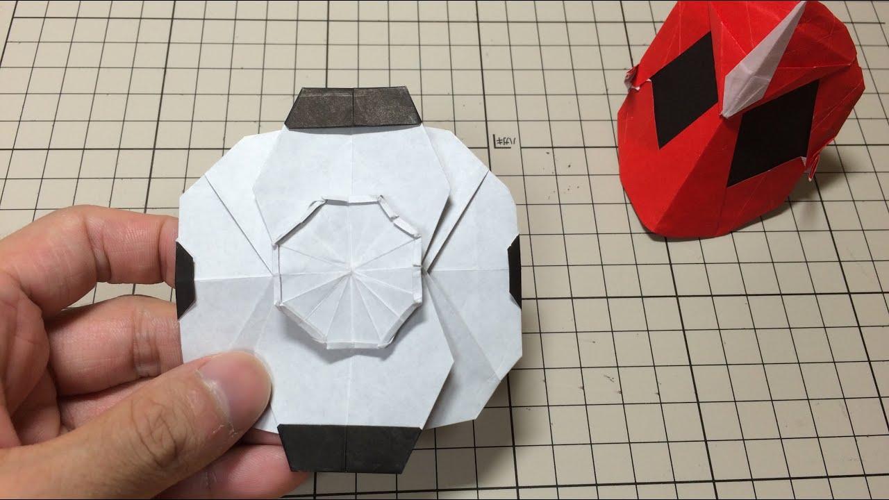 おりがみ「オレゴーストアイコン」のつくりかた 仮面ライダーゴースト How to make Origami Hero ... - photo#11