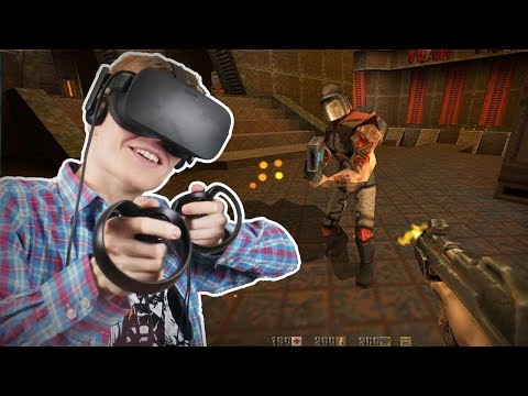 QUAKE II IN VIRTUAL REALITY! | Quake 2 VR Mod (Oculus Touch Gameplay)