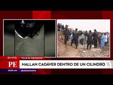 Villa El Salvador: hallan cadáver dentro de un cilindro