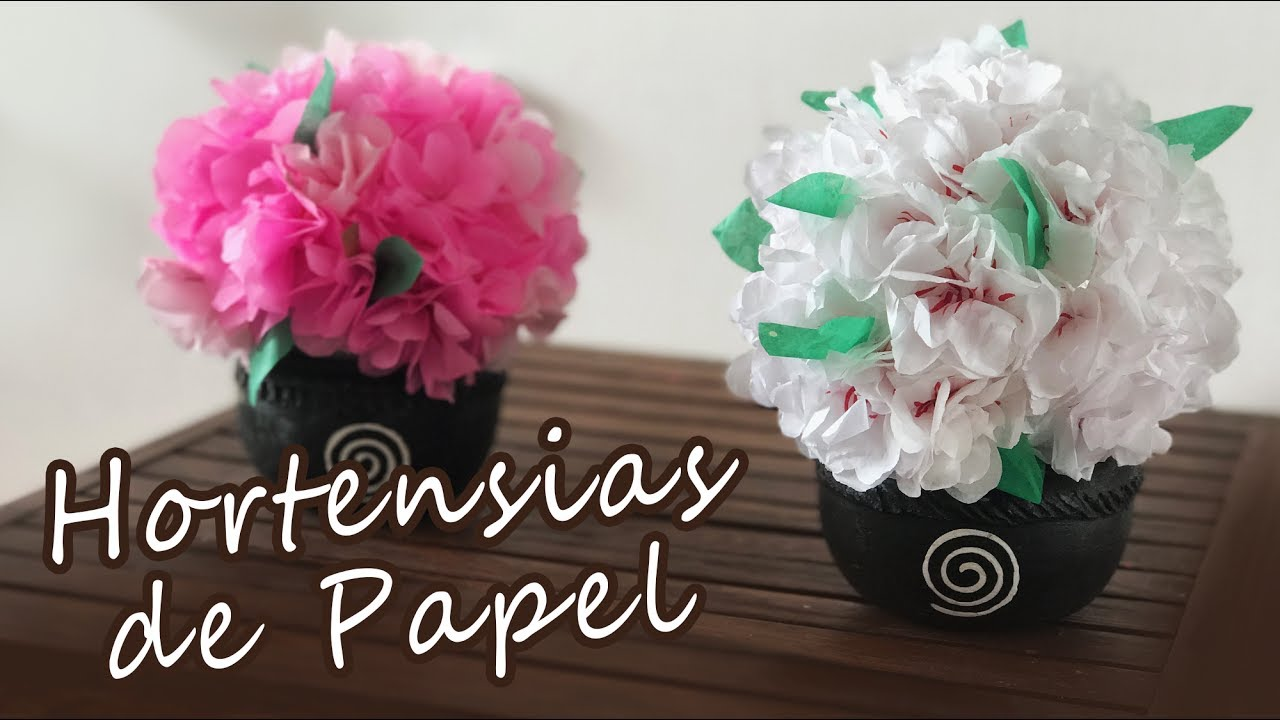 Flores de papel hortensias de papel chuladas - Como cuidar una hortensia de exterior ...