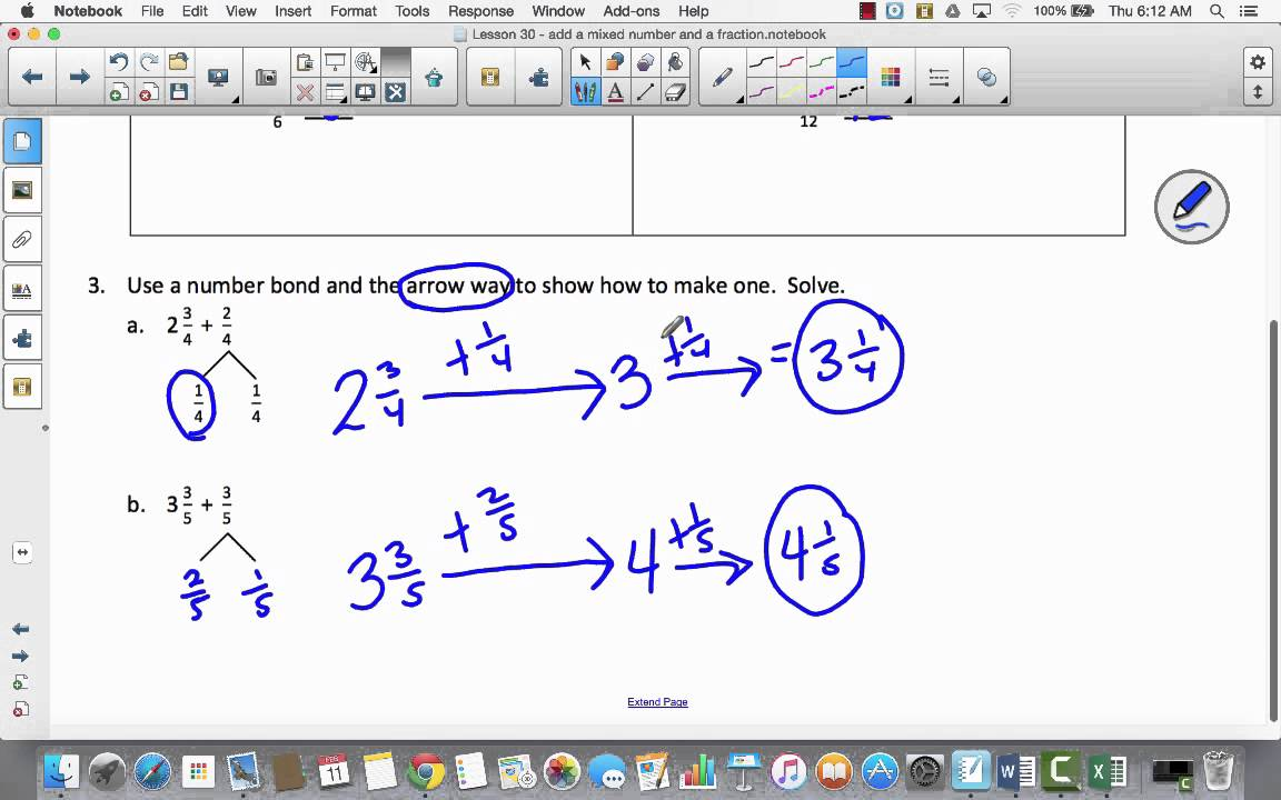 Module 5 Lesson 30 add a mixed number and a fraction