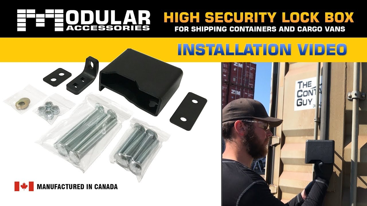 How To Install a Lock Box on a Shipping Container or Cargo Van