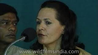 Sonia Gandhi calls Vajpayee's dynamical coalition government unstable
