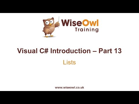 C# Introduction Part 13 - Lists