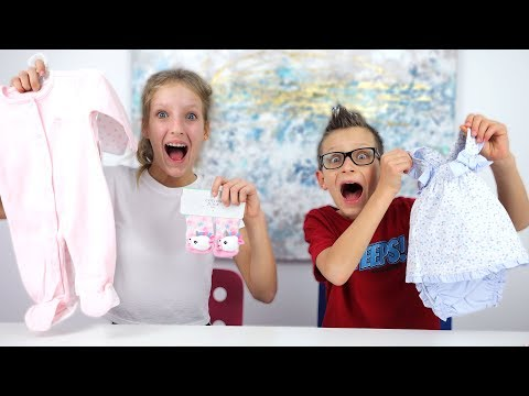 Shopping for Our Baby Sister Clothes Challenge!!!