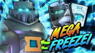 NEW MEGA FREEZE DECK DESTROYS LADDER!! MEGA KNIGHT COMBO OP!!