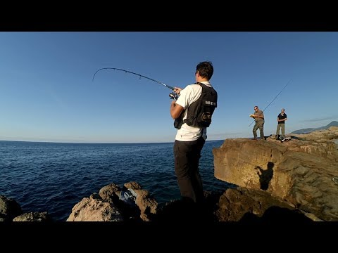 Shore jigging. Tunny. 12.10.2017. (two action cameras)