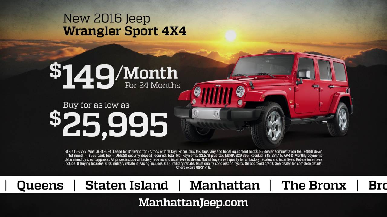 Manhattan Jeep Chrysler Dodge Ram Summer Clearance YouTube - Midway jeep chrysler dodge ram