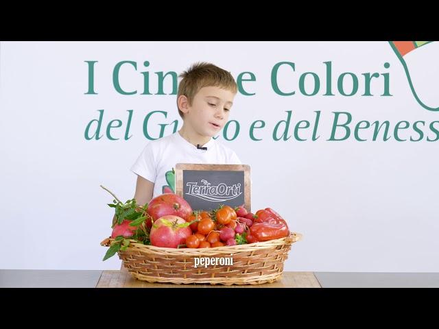 I cinque colori del Gusto e del Benessere - colore rosso - video teaser - 15s