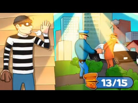 Robbery Bob™ Chapter1 15 Chapter2 1-2 Walkthrough IOS/Android