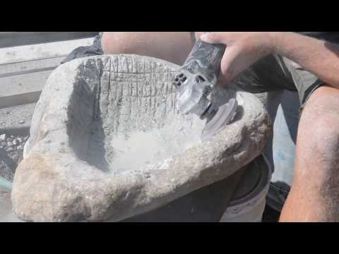 How To Carve A Better Stone Sink In 4 HRS!