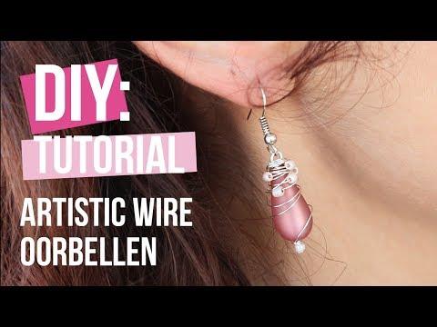 Sieraden maken: Oorbellen met Artistic wire ♡ DIY