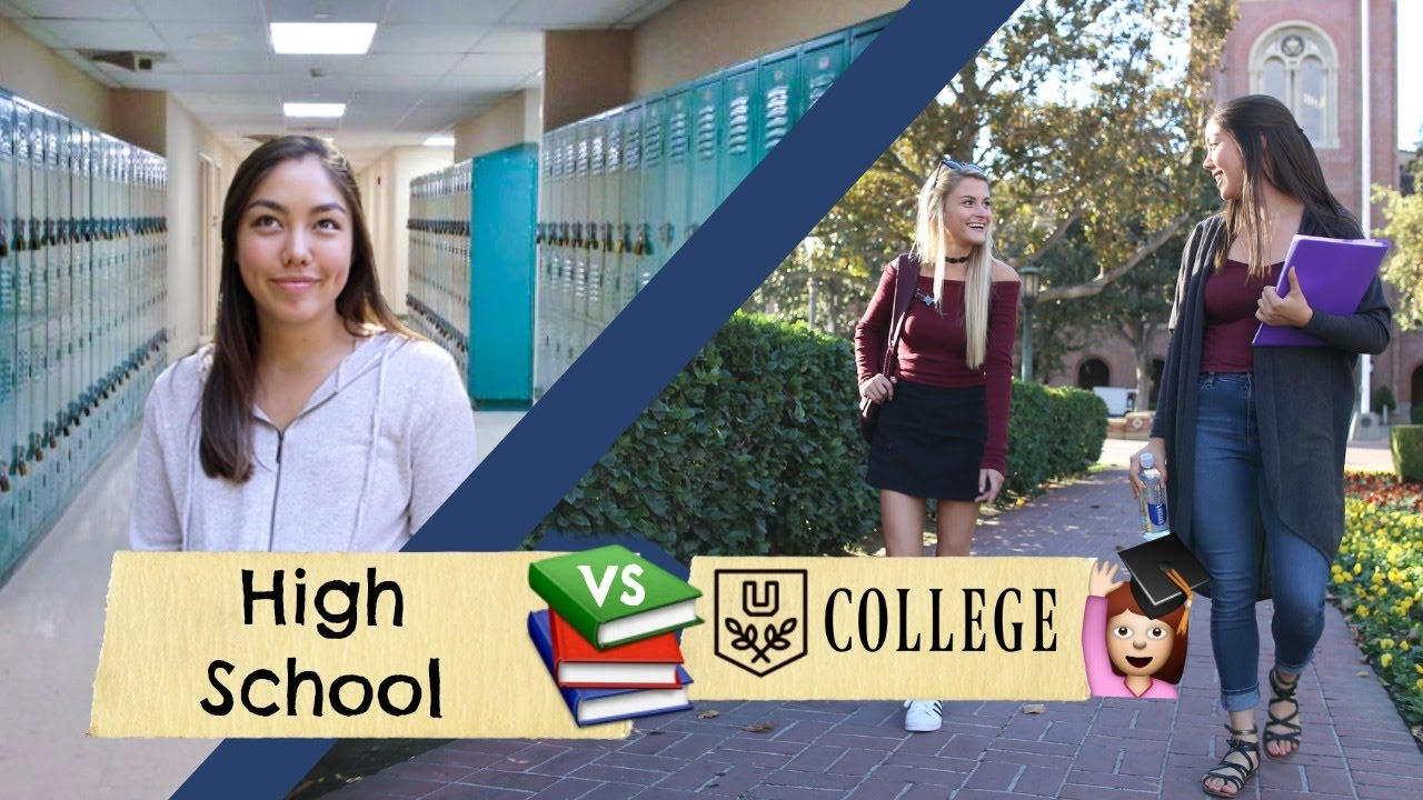 college students versus high school student College vs high school in this article we take a look at college vs high school what changes and differences do you need to prepare for as you make the transition from high school education and lifestyle to a college education and lifestyle.