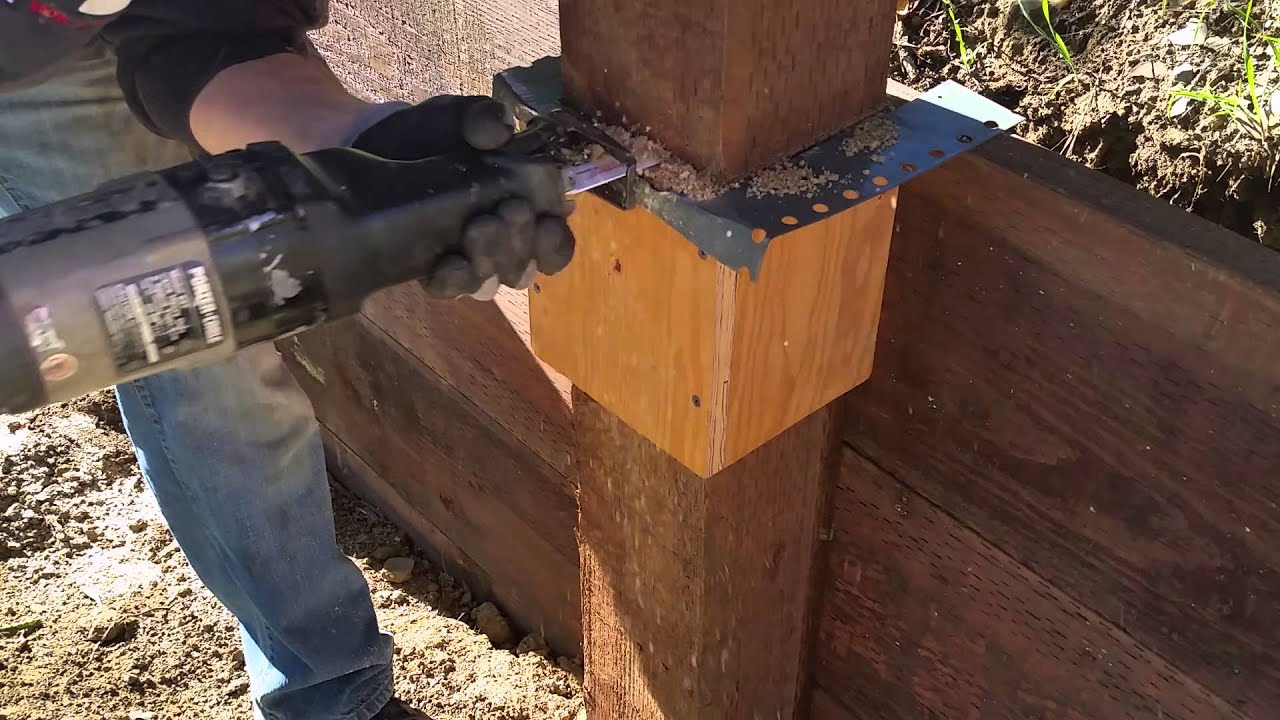 How To Cut 6x6 Fence Post Done Easy With A Simple Jig