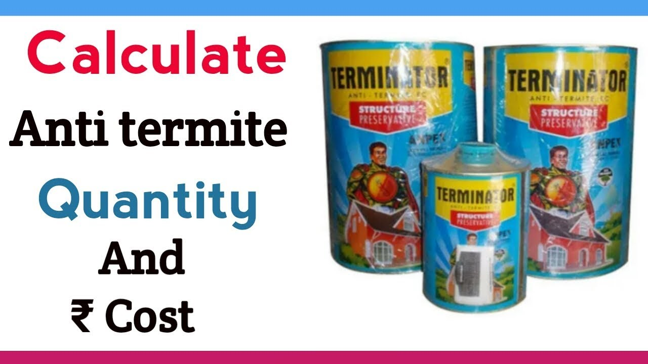 How To Calculate Anti Termite Treatment Quantity And Cost In Building In Hindi Youtube