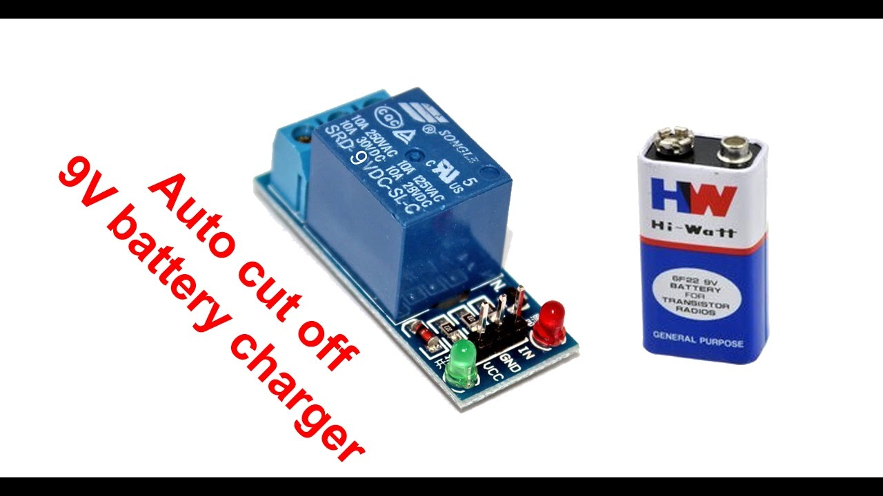 simple auto cut off 9v battery charger youtube rh youtube com 9V Battery Charger Circuit automatic 9v battery charger