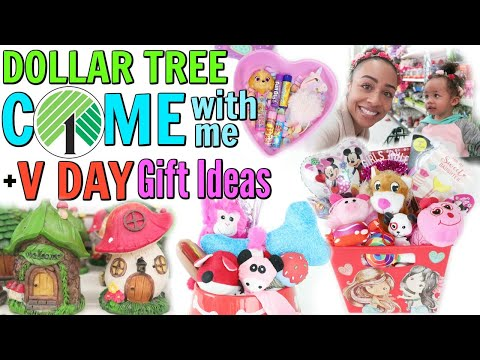 COME WITH ME TO DOLLAR TREE + VALENTINE'S DAY GIFT BASKET IDEAS!