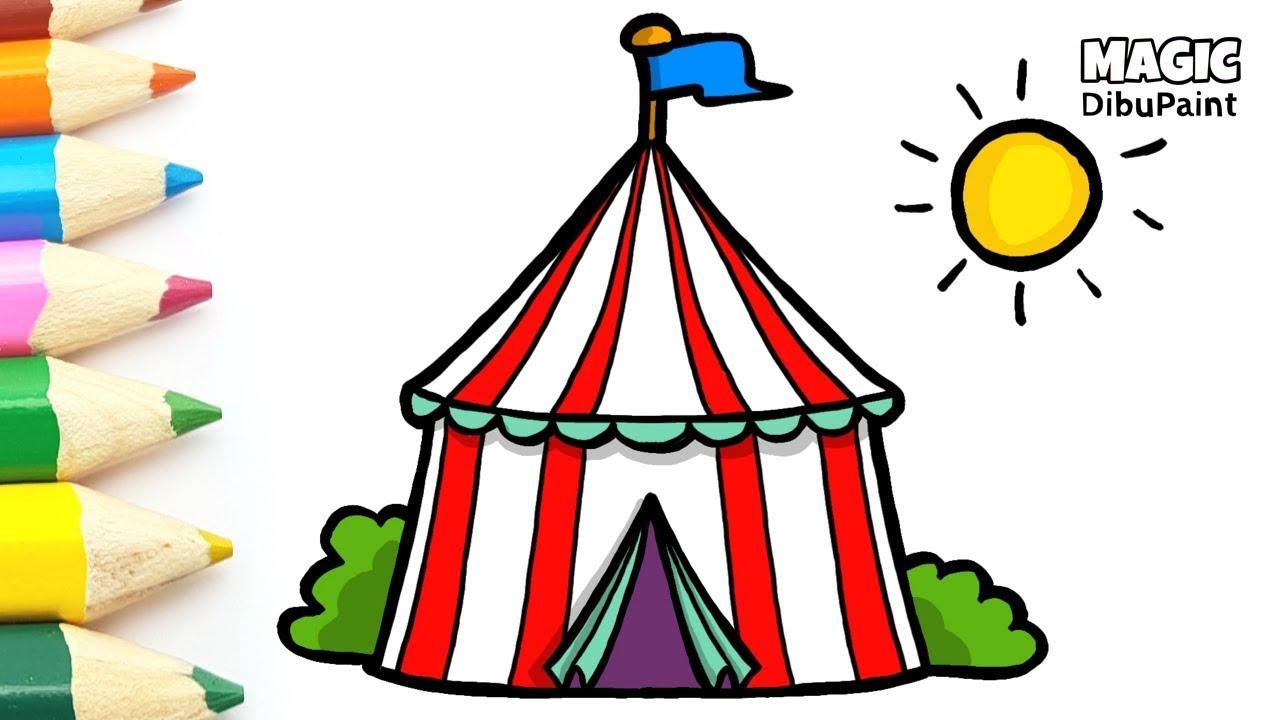 Cómo Dibujar Circo Dibujos Infantiles Youtube