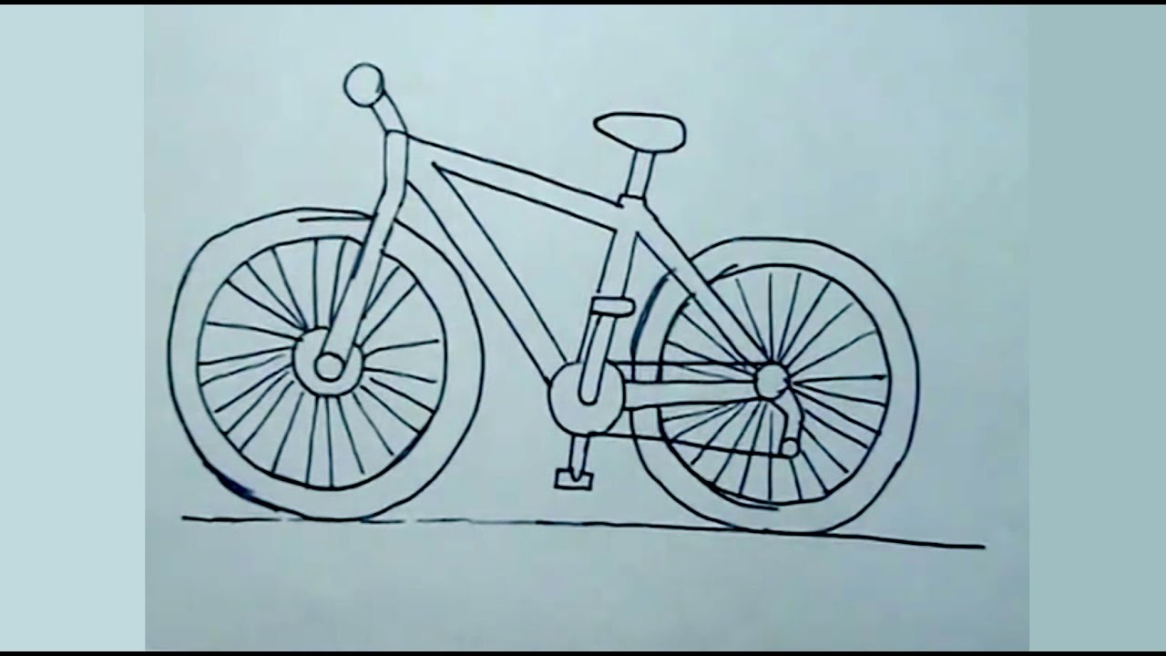 Aprender A Dibujar Fácil Cómo Dibujar Una Bicicleta Bici Drawing Youtube
