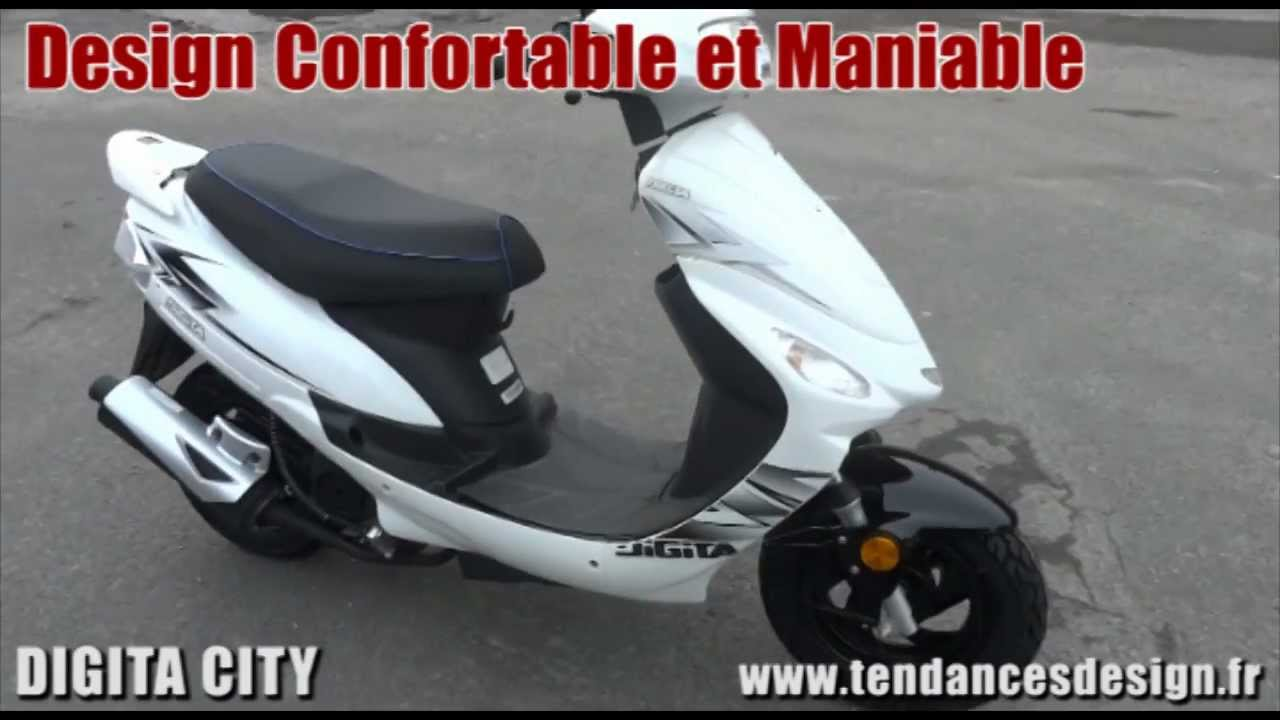 scooter 50cc digita city blanc pas cher meilleur rapport qualit prix youtube. Black Bedroom Furniture Sets. Home Design Ideas