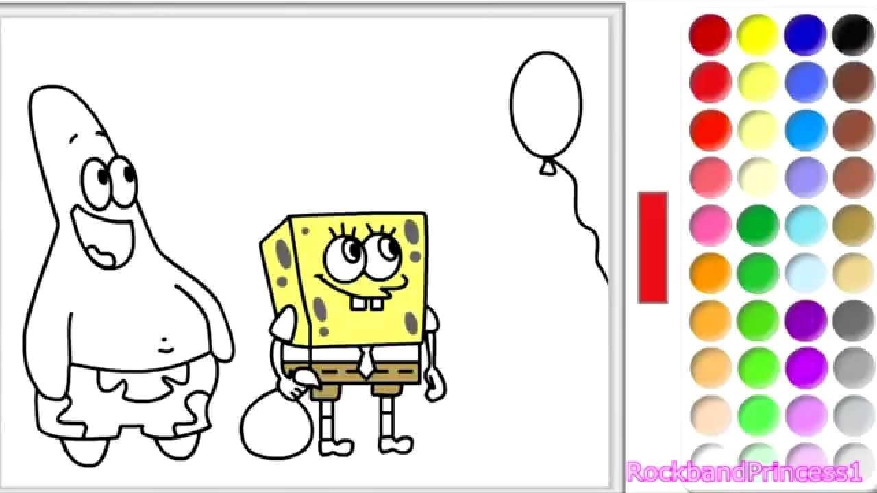 Spongebob Squarepants Online Games - Spongebob Colouring Games ...