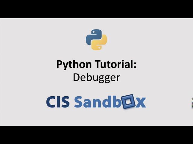 Python Tutorial: Debugger