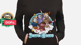 [funny halloween shirts] Horror movie characters Scare Bears shirt, hoodie