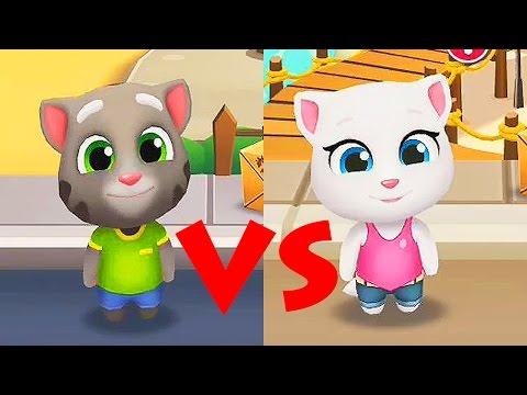 Talking Tom Gold Run / TOM VS ANGELA / Cartoon Games Kids TV