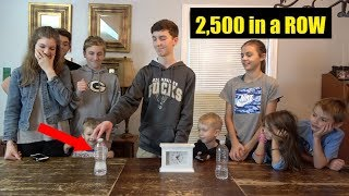 2500 Bottle Flips in a Row (World Record)  That's Amazing