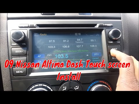 Install In Dash 2009 Nissan Altima Dash Touch Screen