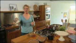 Rachel Allen Chocolate And Almond Cake With Rhubarb Cream