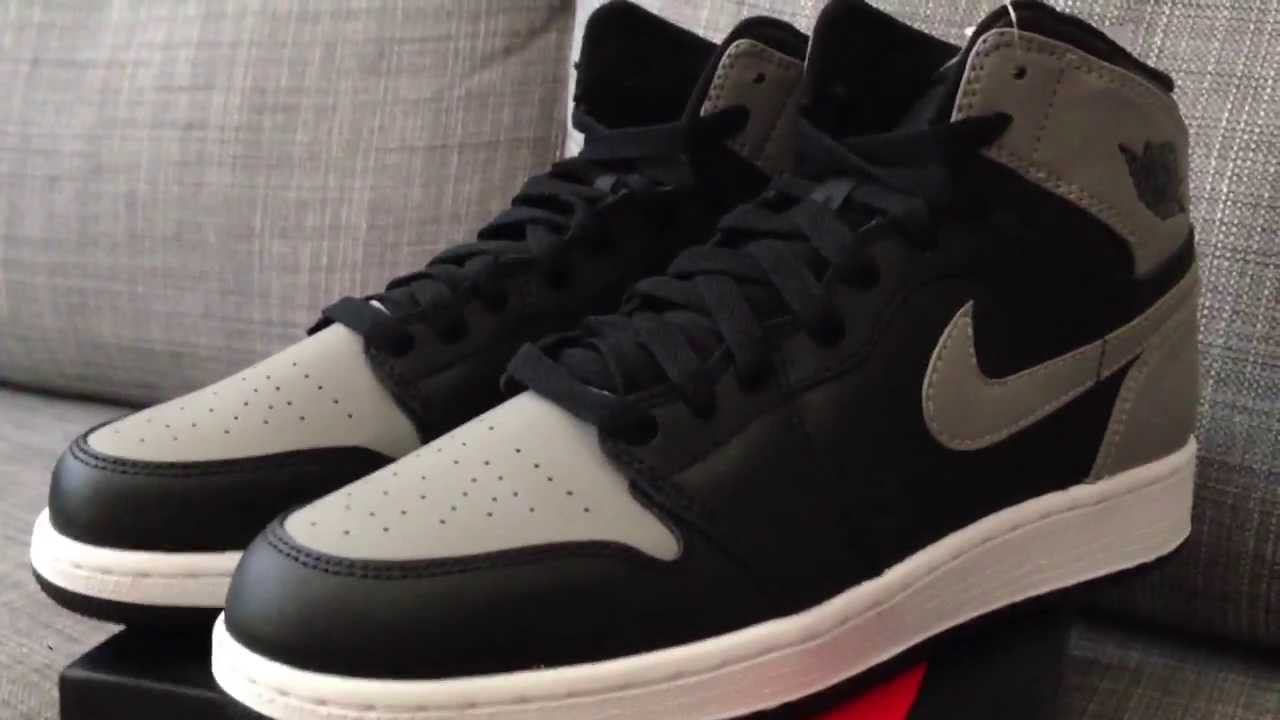 aeff45dbfb6d Nike Air Jordan I 1 High OG Shadow Grey GS Review - YouTube