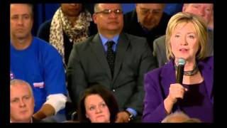 Hillary Clinton New Hampshire Town Hall. Hillary Clinton changes her tune on Republicans