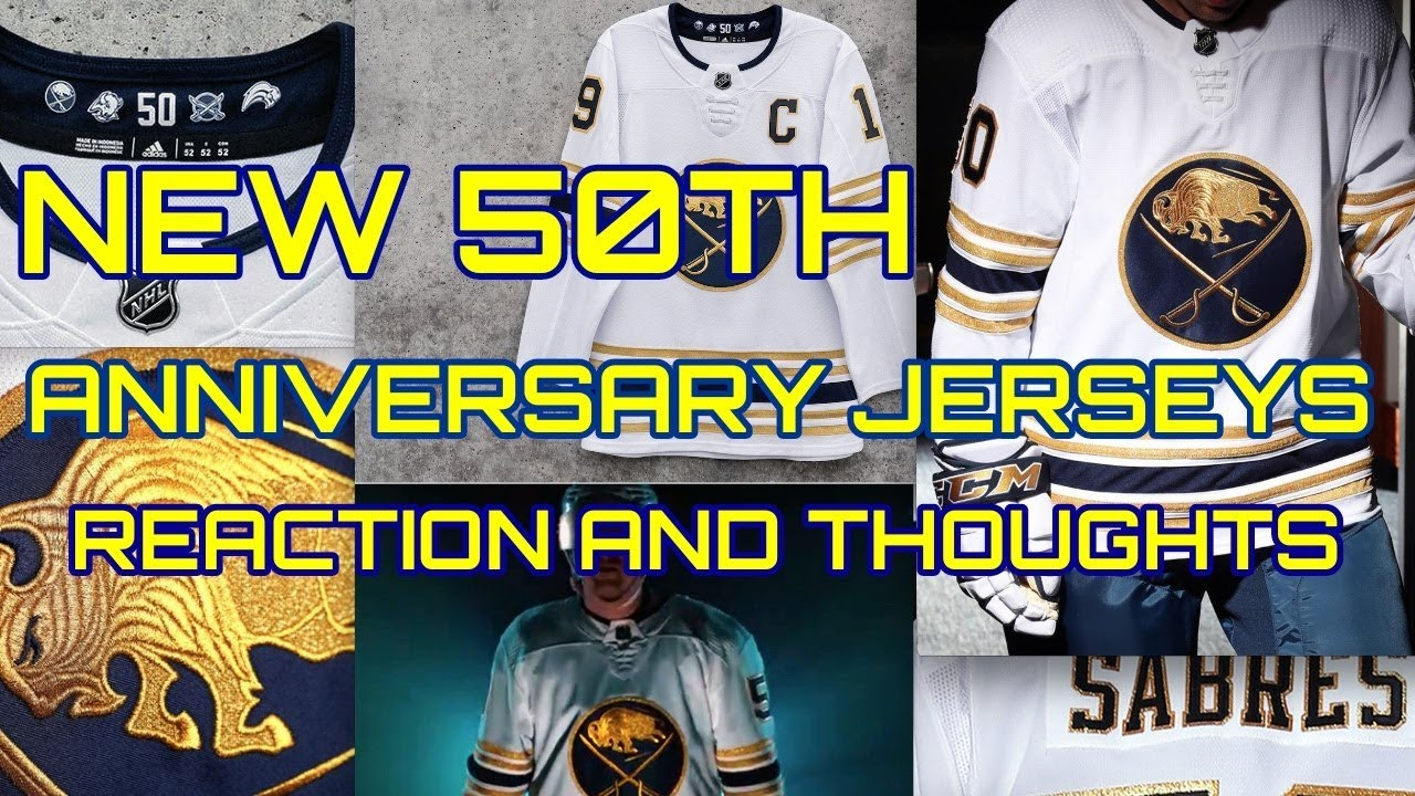 detailed look 21bb0 93b70 Buffalo Sabres 50th Anniversary Jersey Revealed - My Thoughts