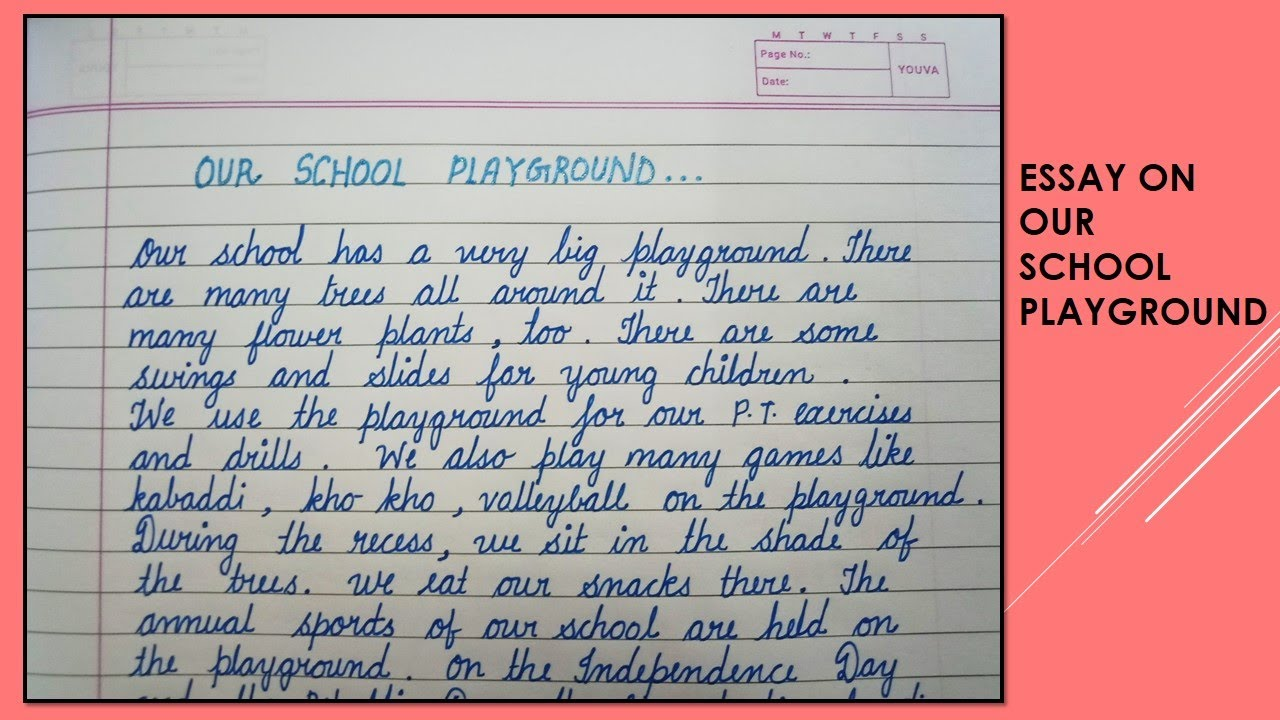Essay about a playground essay effect of glue-sniffing