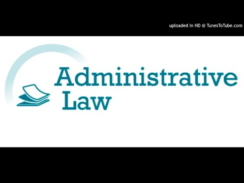Administrative law p160 -p172