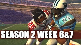 FAKE SNAP LEADS TO HIT STICK - MADDEN 2007 FALCONS FRANCHISE (S2W6&7)
