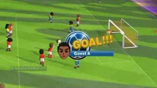 ** Fifa 09 Wii Mii Gameplay **