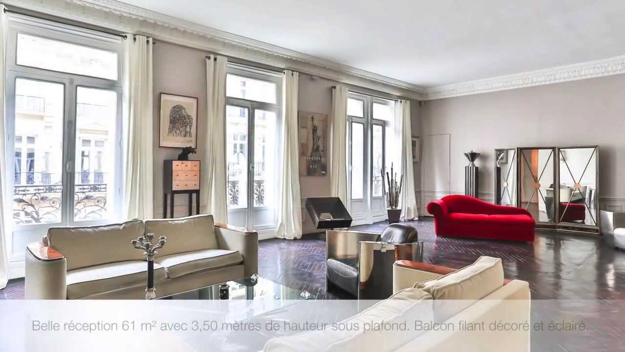 Appartement vendre paris viii triangle d 39 or youtube - Appartement atypique paris a vendre ...