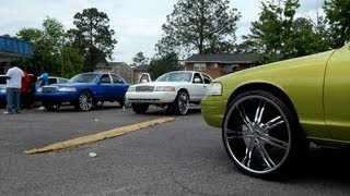 Crown Vic Boyz of Augusta Hangin before Powerfest 2013
