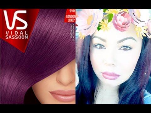 Vidal Sassoon Hair Dye Review London Lilac Youtube