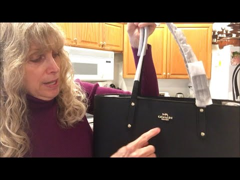Coach Central Tote With Zipper Unboxing
