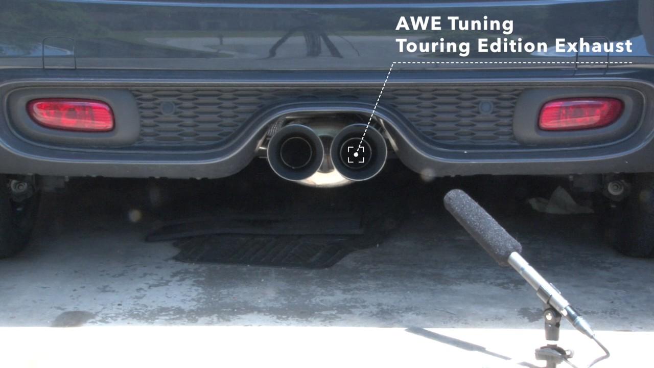 awe tuning exhaust vs stock mini cooper s exhaust