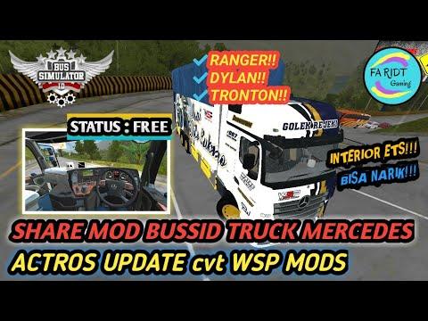 Update 3 Versi Mod Bussid Truck Mercedes Actros Cvt Wsp Mods