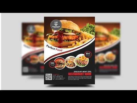 How to Create a Professional Flyer in Photoshop (Restaurant Flyer)