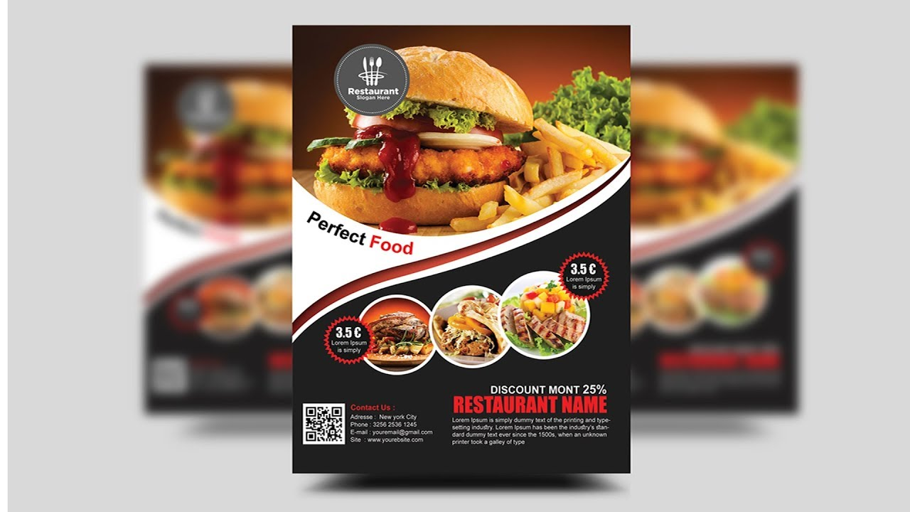 how to create a professional flyer in photoshop restaurant flyer
