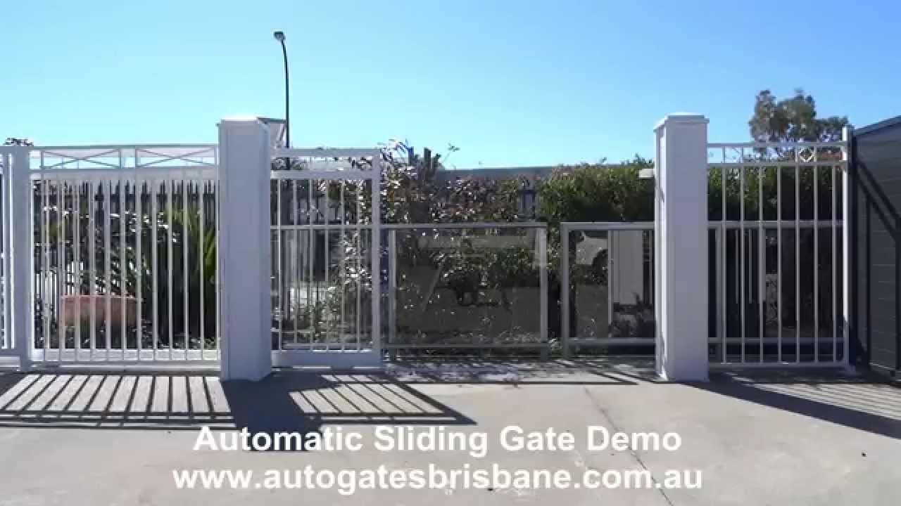 Automatic Sliding Gate Demo Youtube