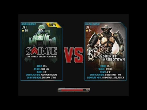 Real Steel WRB Sarge VS Six Shooter NEW ROBOT Update Halloween